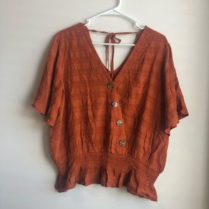 Maurices Woman's Dark Orange Blouse